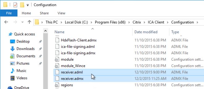 Citrix Install Receiver ADMX Templates - Tech Wiki